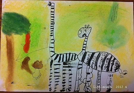 【畫室】斑馬(及小鳥、小松鼠)