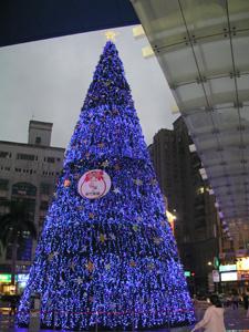2005年12月新竹風城百貨的聖誕樹