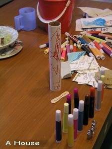 彩色筆畫紙筒(3y3m3w)