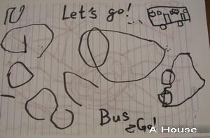 「BUS GO」寫字練習(3y5m)