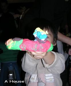 雪人花圈(2008社區聖誕節花圈DIY活動)