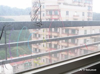 26個英文字母寫在玻璃窗上(3y6m)