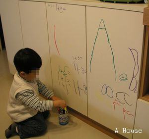 櫥櫃門塗鴉(3y6m)