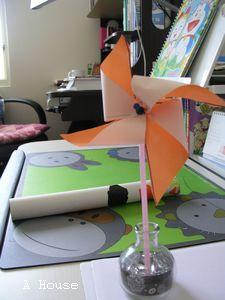 幼稚園勞作:風車(4y)