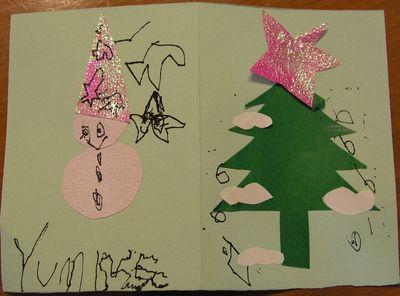 2009小玉米和媽媽一起做的聖誕卡