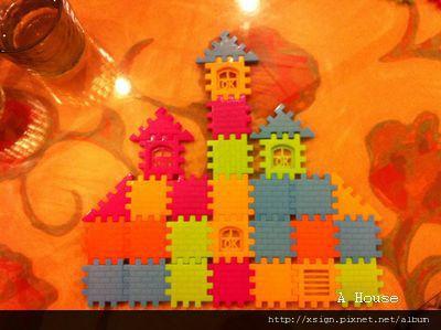 城堡(5y8m)(用餐廳玩具做的)