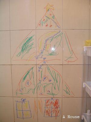 浴室牆壁:聖誕樹(2010.12)