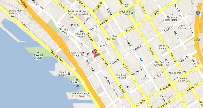 Google map:Seattle Gum Wall