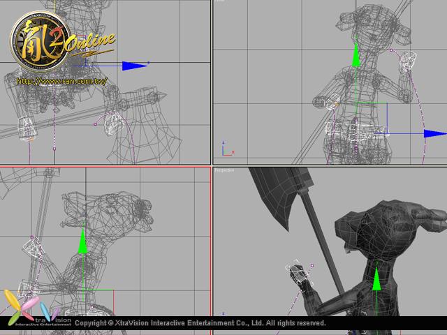 2012年暑期改版活動特殊怪物製作畫面