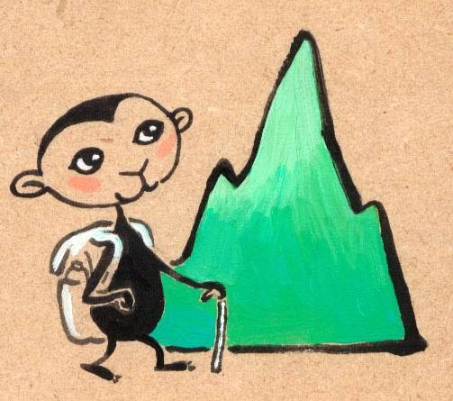 monkey climb mountain