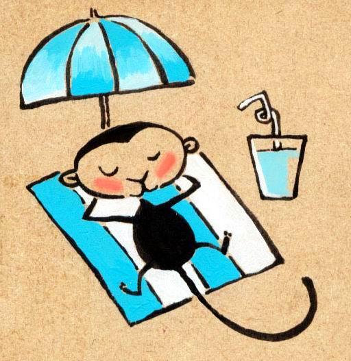 monkey on vacation