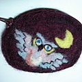 small purse with an owl