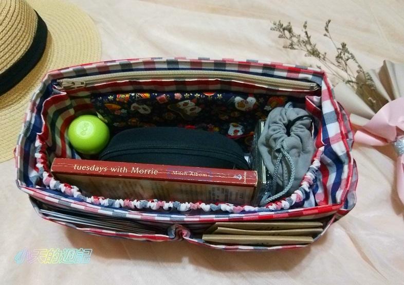 【試用】幸福工作室 純手工包包收納袋-平面拉鍊款袋中袋8.jpg