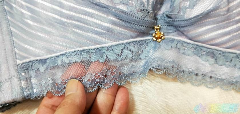 【試穿】黛瑪Daima 法式內衣 微露性感無鋼圈骨線超薄透膚蕾絲3.jpg