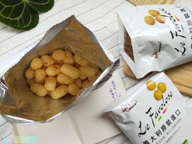 【零食推薦】喬山叔叔 義大利Life Snack 香焙玉米球7.jpg