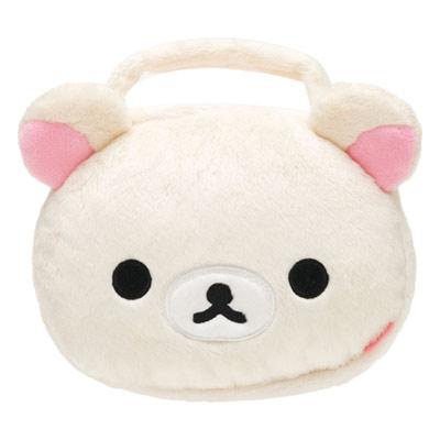 懶熊臉型毛絨手提CD包.jpg