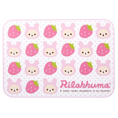 懶熊草莓兔棉柔毛毯.jpg