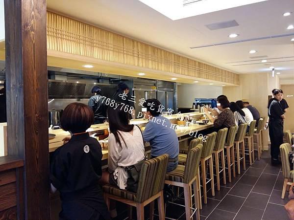 下町天丼秋光-老三愛吃貨寫食記6-吧台區.jpg