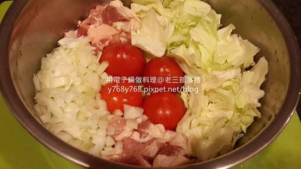 蕃茄咖哩蛋什錦炊飯-老三用電子鍋做料理7.jpg