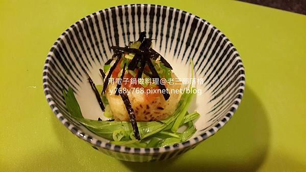 飯糰茶泡飯-老三用電子鍋做料理1.jpg