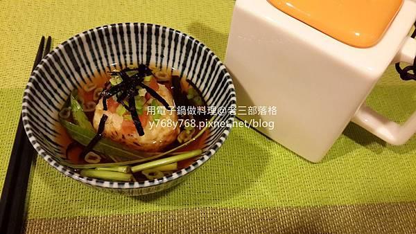飯糰茶泡飯-老三用電子鍋做料理9.jpg