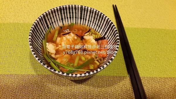飯糰茶泡飯-老三用電子鍋做料理10.jpg