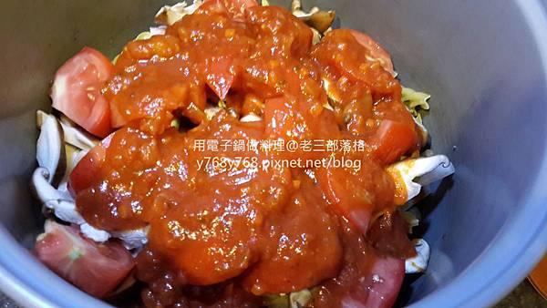 老三用電子鍋做料理-蕃茄義大利肉醬麵10.jpg