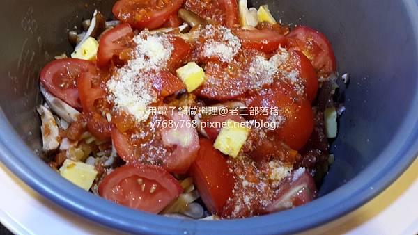 老三用電子鍋做料理-蕃茄義大利肉醬麵16.jpg