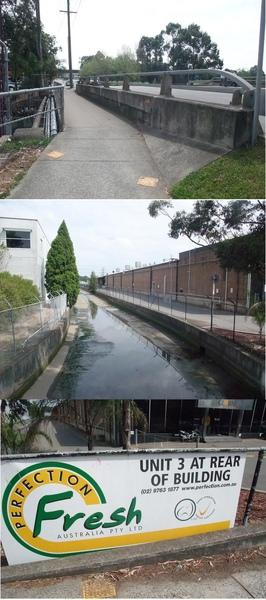 工廠旁邊的河