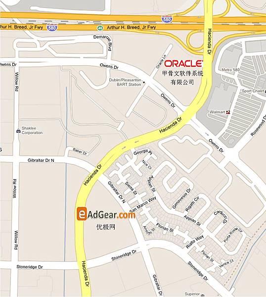 優極網美國總公司-Google城市街道圖