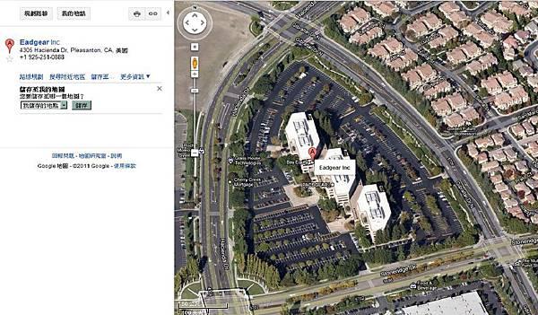 優極網美國總公司-Google衛星雲圖