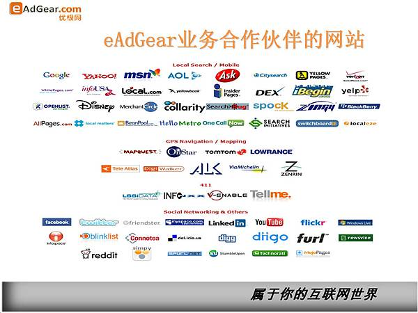 優極網業務合作夥伴的商業平台網站