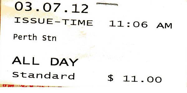 PERTH一日票