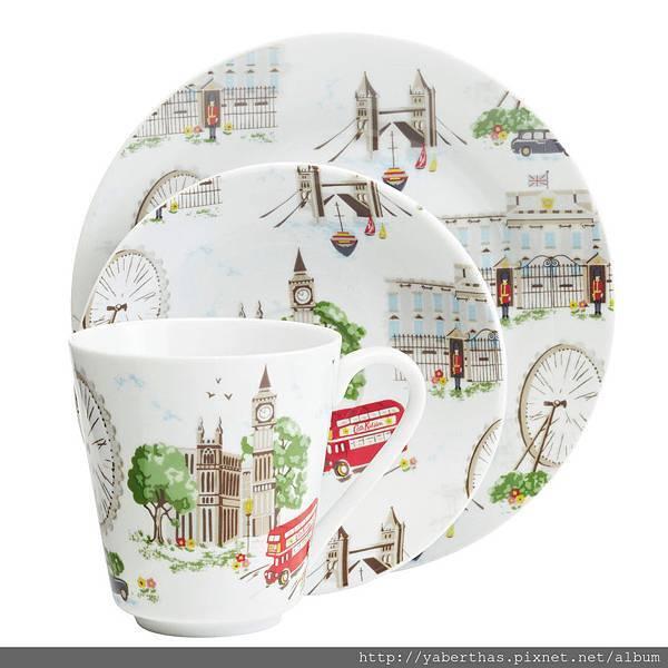 16 倫敦杯盤三件組 1080