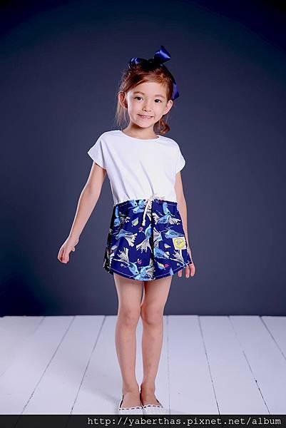 小觀鳥T恤連衣裙1