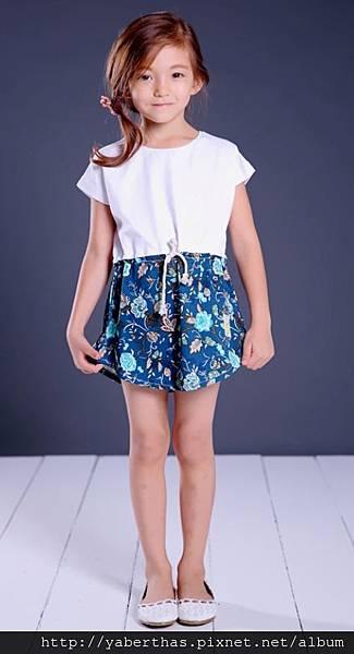 藍精靈連衣T恤裙1