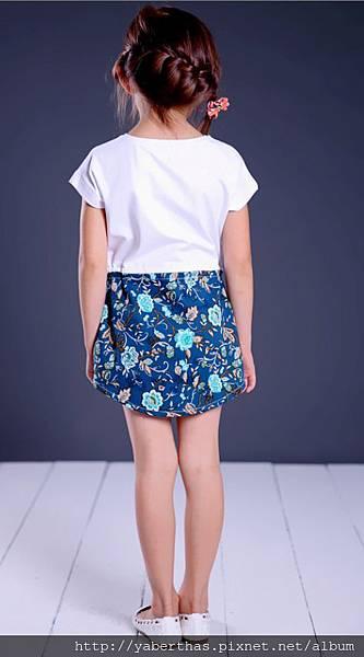 藍精靈連衣T恤裙2