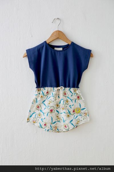蘭花T恤連衣裙3
