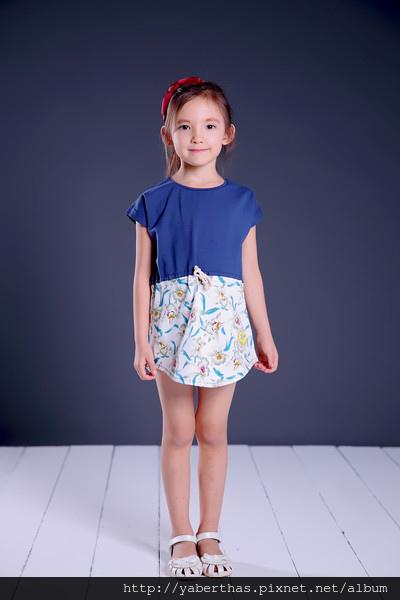 蘭花T恤連衣裙1