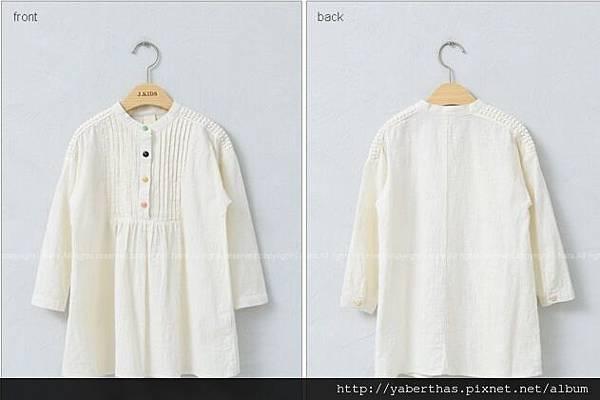 彩色鈕扣連衣裙(象牙色)2