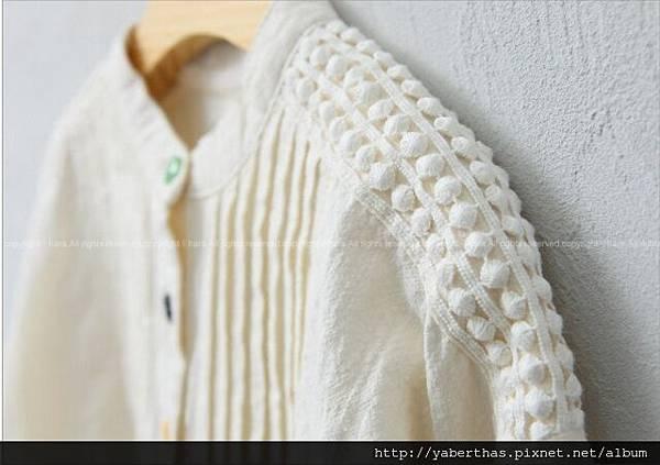 彩色鈕扣連衣裙(象牙色)3