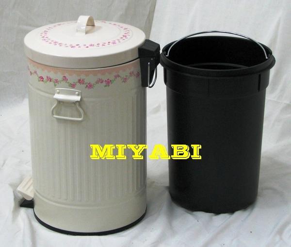 日本鄉村甜美優雅玫瑰垃圾桶1.jpg
