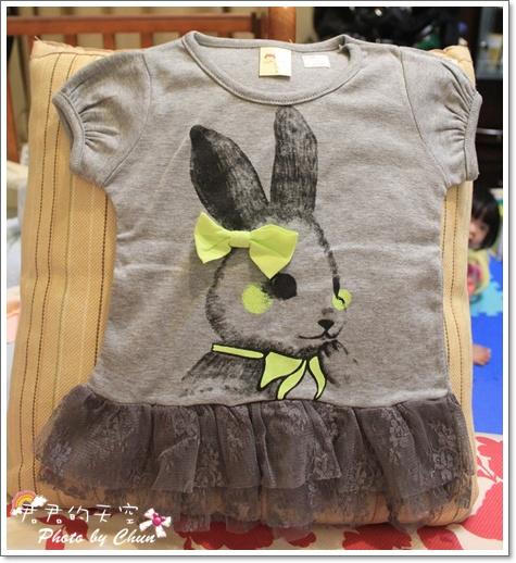 灰兔蕾絲長上衣