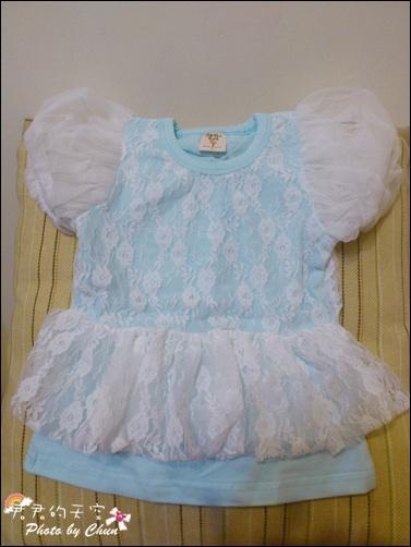 藍蕾絲上衣