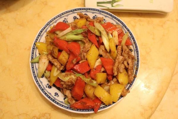 沙茶豬肉炒二椒