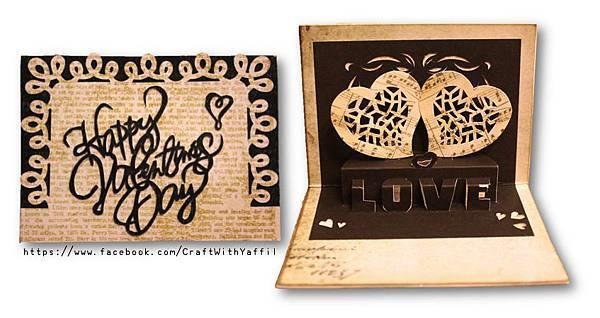 Yaffil Wu-love pop up card