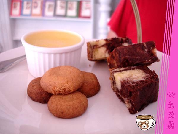 圓形鬆餅+大理石蛋糕