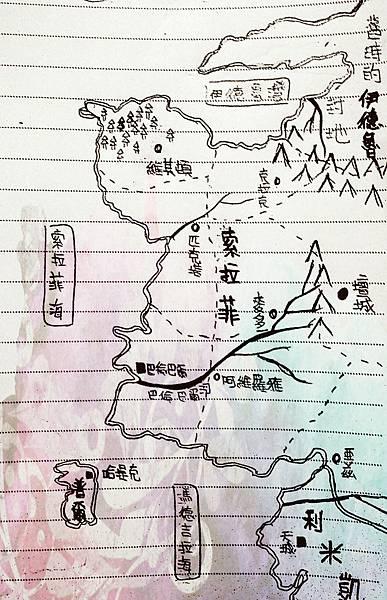 索拉菲及其鄰國地圖