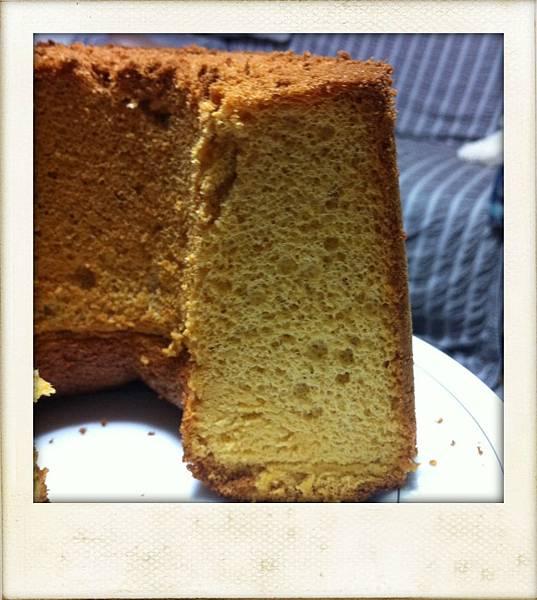 焦糖戚風蛋糕