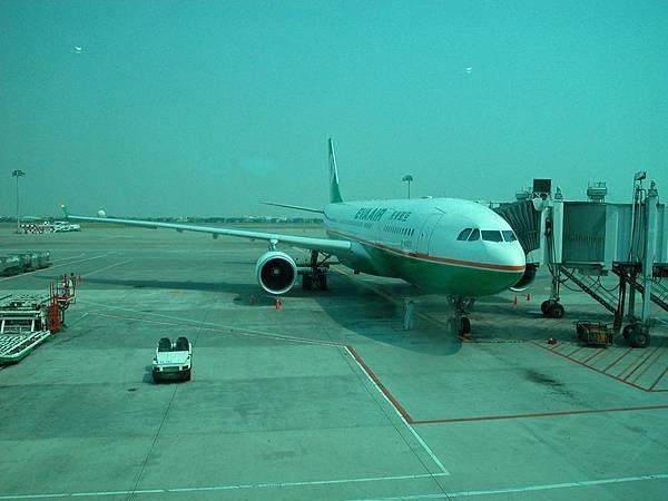前往日本所搭乘的長榮BR2196班機